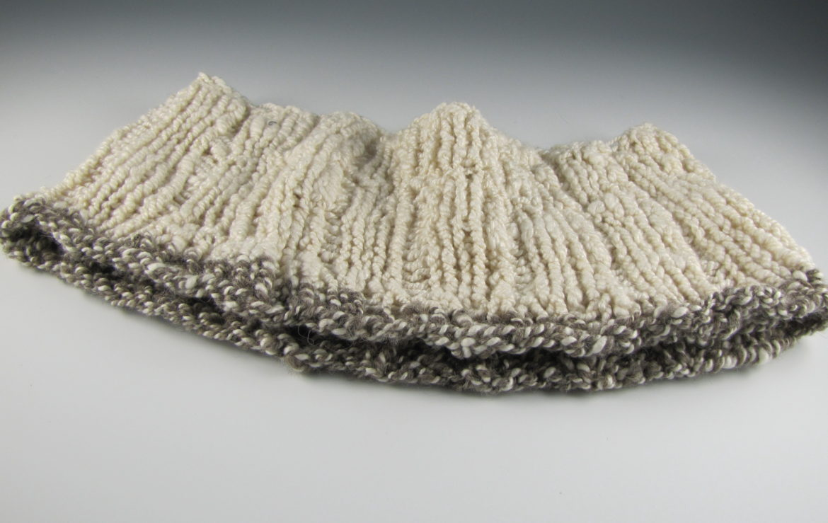Hand Spun and Hand Knit Cowl